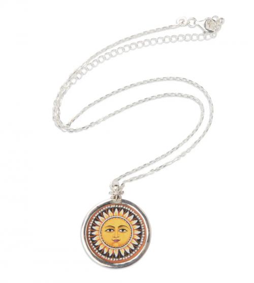 Ten Thousand Villages Sun & Moon Necklace