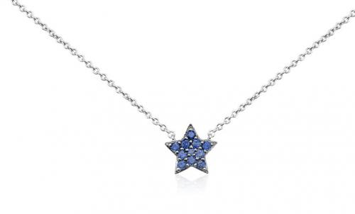 Blue Nile Mini Sapphire Star Pendant
