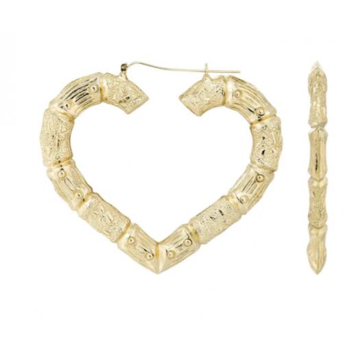 Frost NYC 10K Heart Bamboo Earrings