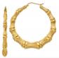 Sears 14K Bamboo Hoop Earrings