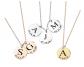 MignonAndMignon Initial Disc Necklace Coin