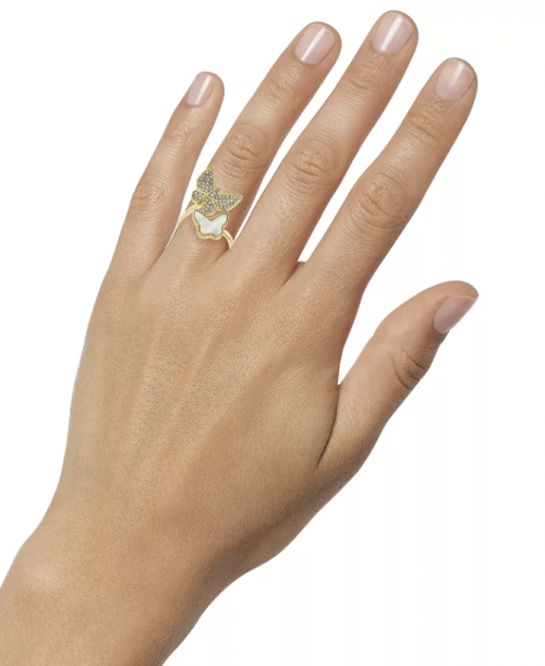 Charter Club Mother-of-Pearl Butterfly Ring