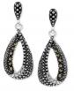 Macy's Marcasite & Crystal Earrings
