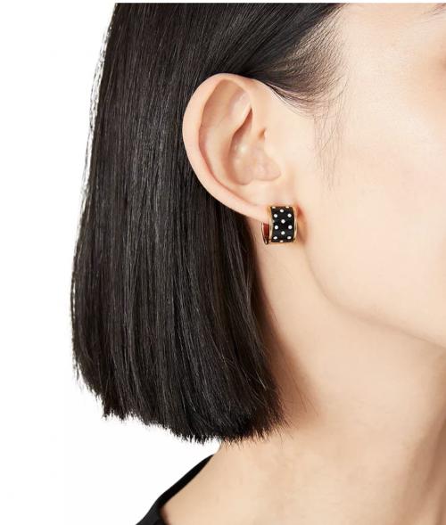 Kate Spade Heritage Spade Huggie Hoop Earrings