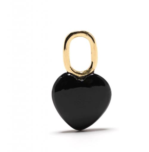 Maria Black Onyx-Accent Heart Charm
