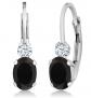 Gem Stone King Black Onyx Earrings