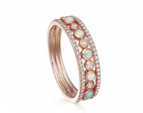 Astley Clarke Triple Icon Nova Opal Ring