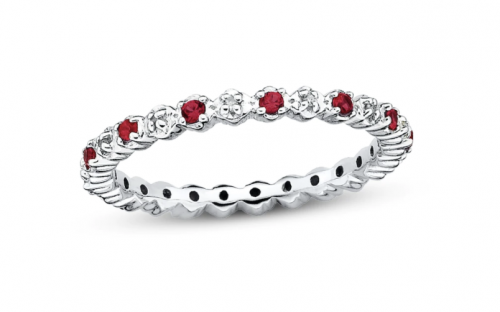 Kay Jewelers Stackable Ruby & Diamond Ring