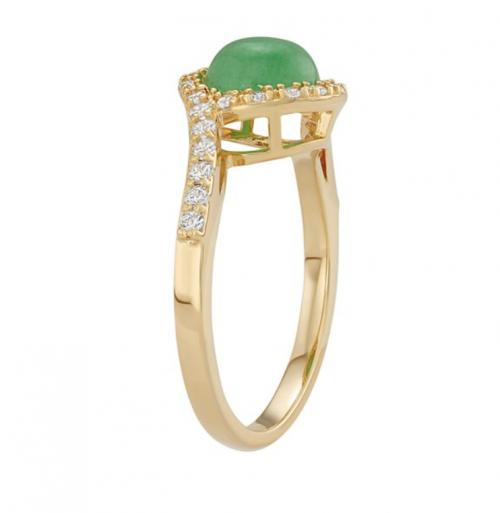 Kohls 18k Gold Over Silver Jade Halo Ring