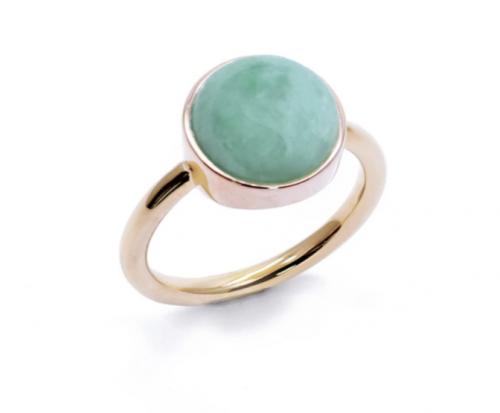 Jadeite Atelier Eden Ring in Apple Green Jade