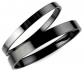 Joyplancraft Black Polish Titanium Bracelets
