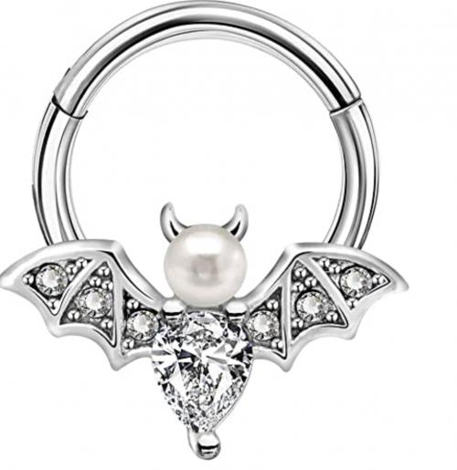 Body Candy Vampire Bat Halloween Hinged Segment Ring