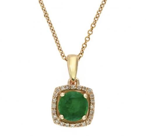 Effy Brasilica Emerald and Diamond Pendant