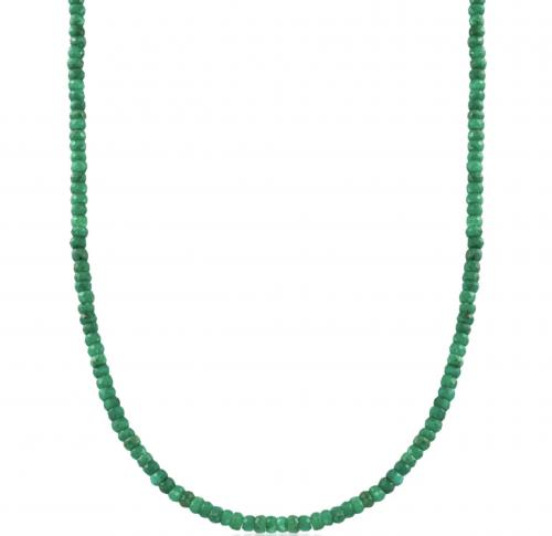 Ross Simons Emerald Bead Necklace