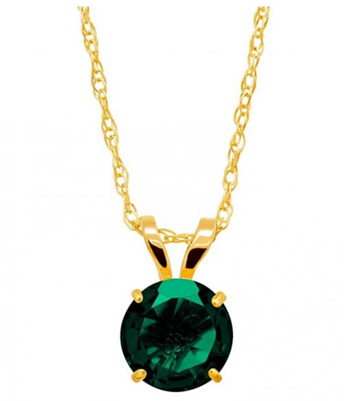 Finecraft Round-Cut Solitaire Necklace