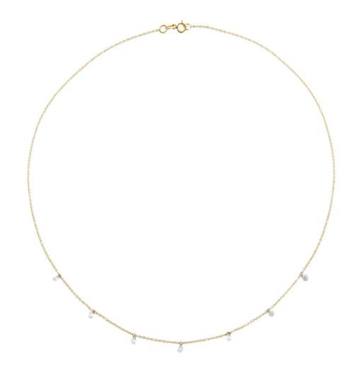 Adinas Jewels Floating Diamond Necklace