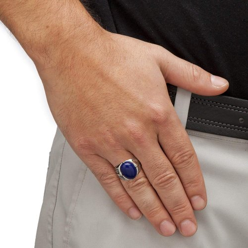Men ring on a hand