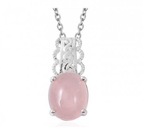 Jewelry Impressions Rose Quartz and Moonstone Pendant