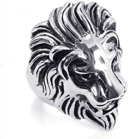SilverCloseOut Stainless Steel Royal Lion Ring Collection