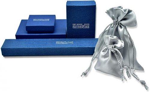 Silvershake 6mm Natural Round Shape MoonstoneEngagement  Ring Bag