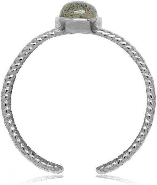 Silvershake Labradorite White Gold Ring Side