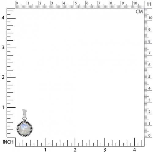 Silvershake Silver Rope Pendant size