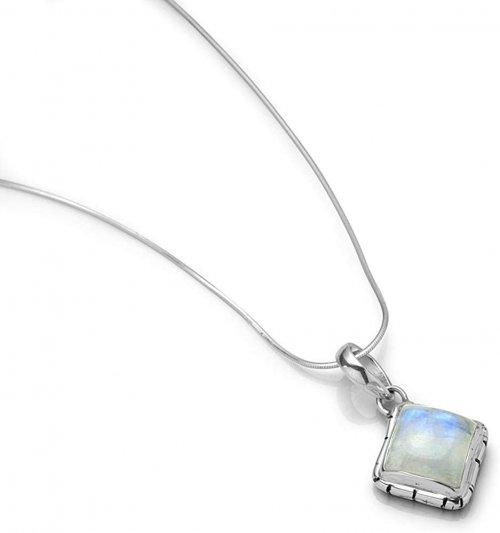 Square moonstone pendant