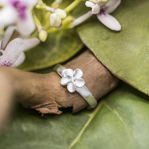 Sterling Silver Plumeria Flower Toe Ring Collection