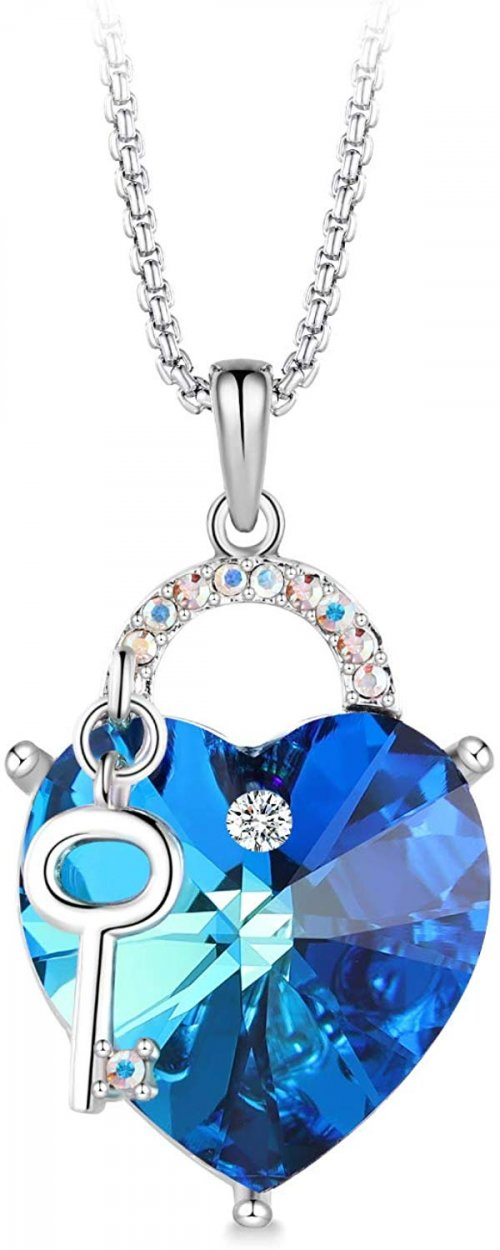 T400 Fashion Swarovski Elements Crystal Jewelry Heart Necklace