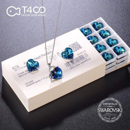 T400 Fashion Swarovski Elements Crystal Jewelry Key Necklace Ad