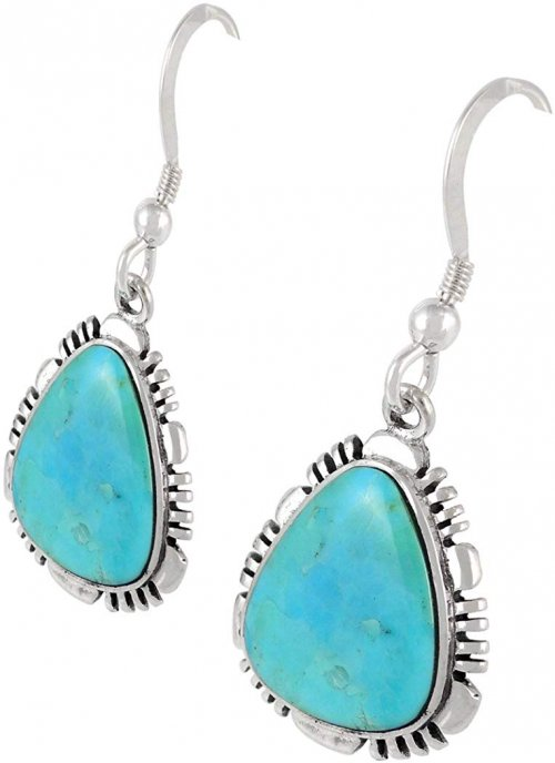 Turquoise Earrings with 925 sterling silver