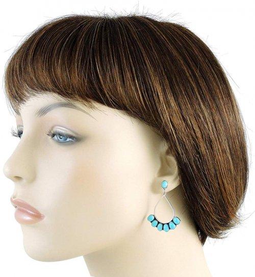 Turquoise earrings model