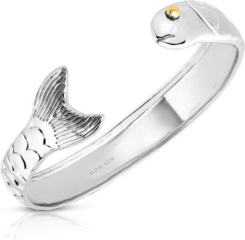 Solid Silver Fish Bracelet