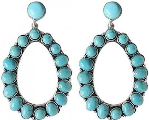 Wonderent Bohemian Turquoise Earrings