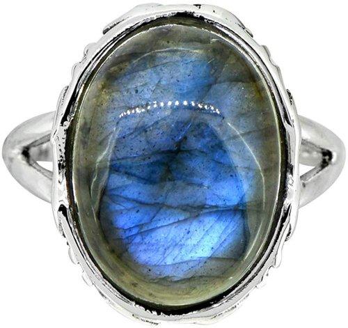 YoTreasure Labradorite Solid Ring Collection