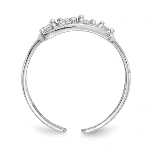 Zirconia Silver Ring SIde