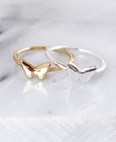 A Super Dazzling Butterfly Ring Selection