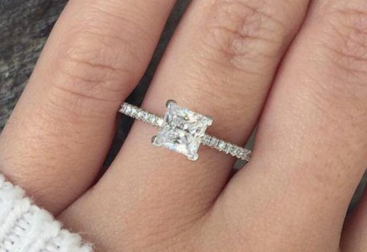Affordable Princess Cut Engagement Rings Jewelryjealousy
